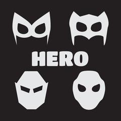 Super hero masks set. Superhero masks for face character in flat style. Super hero vector