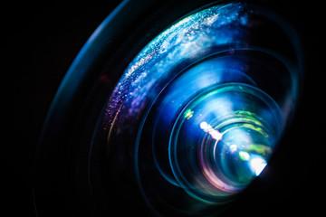 Macro of a projector lens