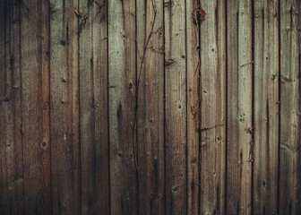 Wall of old and weathered wood. Wood texture with natural pattern.