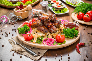 grilled Ribs, Tasty and healthy food