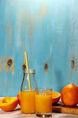 Orange juice in summer