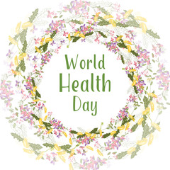 Greeting card of the World Health day