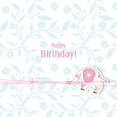 Happy birthday card. Greeting card template.