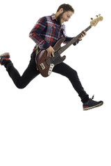 young man with electric guitar