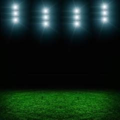 Soccer green field