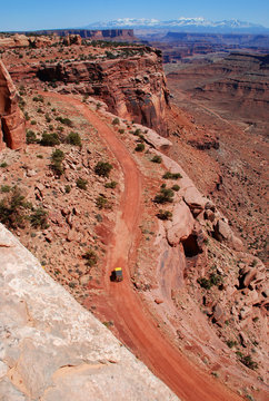 Road in Canyonlands National Park near Moab, Utah: the view near visitor center