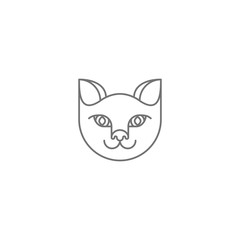 Vector abstract cat icon
