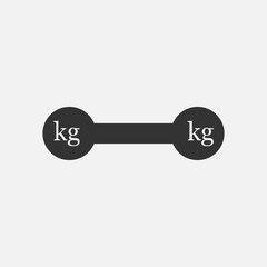 Weight kilogram barbell icon. Vector illustration.