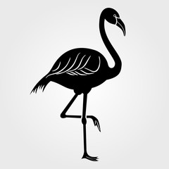 Flamingo icon on a white background