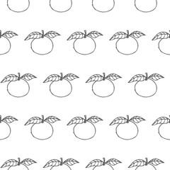 apple vector seamless pattern