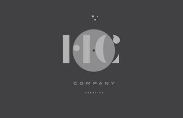 hc h c  grey modern alphabet company letter logo icon