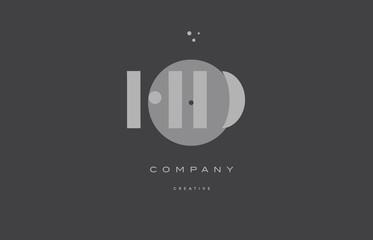 hd h d  grey modern alphabet company letter logo icon