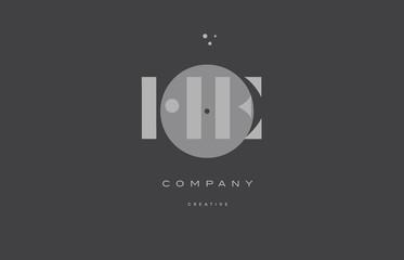 he h e  grey modern alphabet company letter logo icon