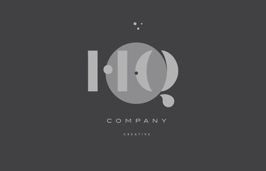 hq h q  grey modern alphabet company letter logo icon