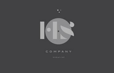 hs h s  grey modern alphabet company letter logo icon