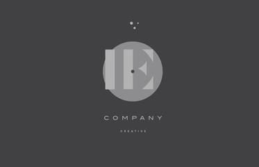 ie i e  grey modern alphabet company letter logo icon
