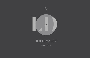 ld l d  grey modern alphabet company letter logo icon
