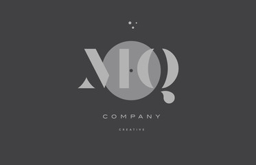 mq m q  grey modern alphabet company letter logo icon