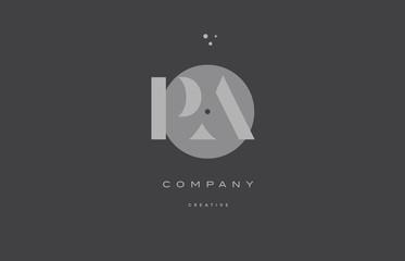 Obraz pa p a  grey modern alphabet company letter logo icon - fototapety do salonu