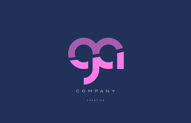 Fototapeta ga g a  pink blue alphabet letter logo icon obraz