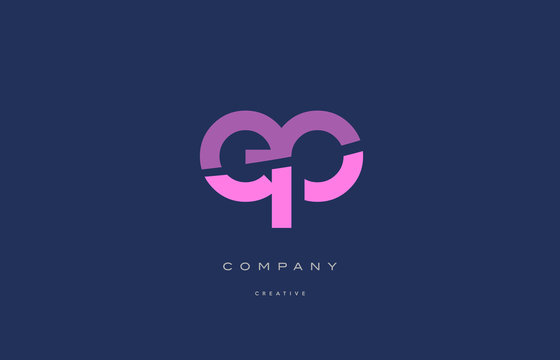 ep e p  pink blue alphabet letter logo icon