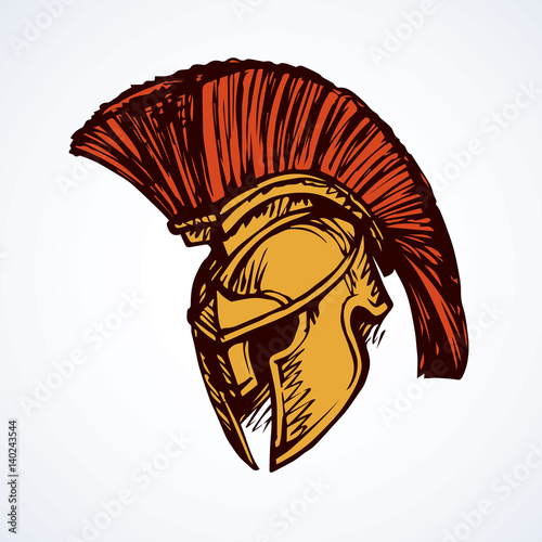 Spartan Helmet Vector Drawing Stock Image And Royalty Free Vector