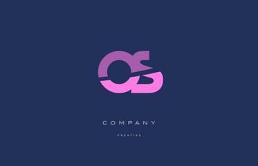 Fototapeta os o s  pink blue alphabet letter logo icon obraz