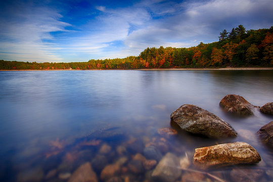 Walden Pond in the Fall