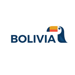 Vector illustration of toucan for Bolivia Logo.