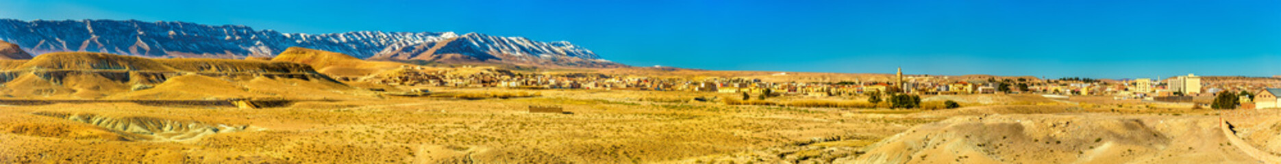 Panorama of the Atlas Mountains at Midelt, Morocco