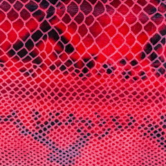 Texture of genuine leather close-up, embossed under the skin a reptile, catchy bright pattern. Square