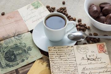 Больше 100 лет назад - кофе, деньги и открытки