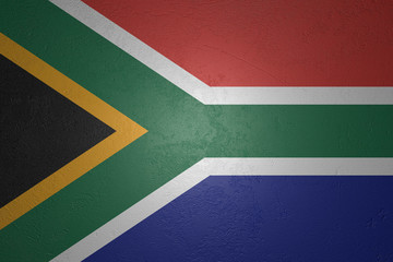 Flag of South Africa on stone background, 3d illustration