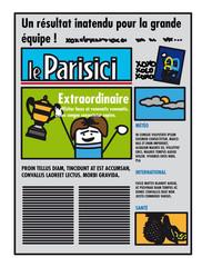 Une de journal en France