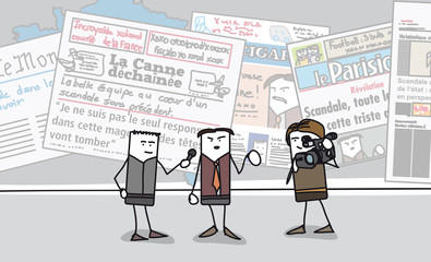 Scandale dans les journaux français