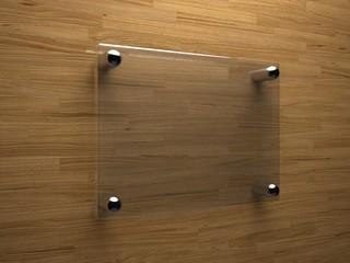 Glass plate mockup - blank
