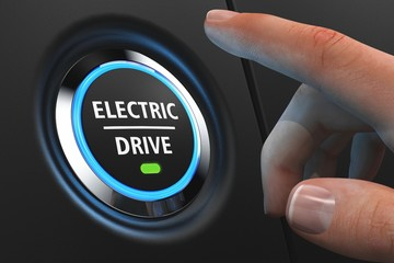 Button Electric Drive - Hand - LED