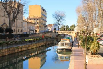 Canal de la Robine à Narbonne, France