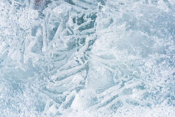 Texture of ice. A background of ice. Ice in the spring