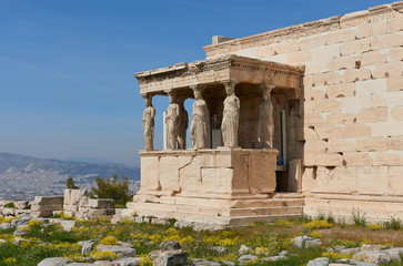 Caryatids At Acropolis Athens
