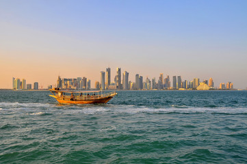 Fotobehang Hong-Kong Doha - the capital city and most populous city of the State of Qatar