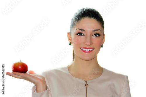 Healthy Diet Close Up Portrait Of A Beautiful Caucasian