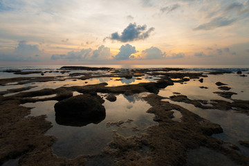 Evening Sunset Reflection at Tide Pool on Neil Island of Andaman Islands