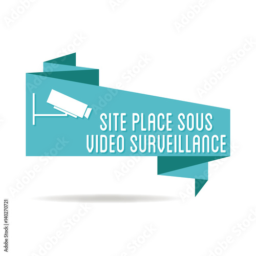 logo site sous vid o surveillance stock image and. Black Bedroom Furniture Sets. Home Design Ideas