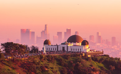 Los Angeles and Griffith Observatory at Sunset
