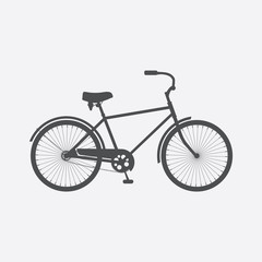 Bicycle isolated on white background. Bike. Flat style vector icon