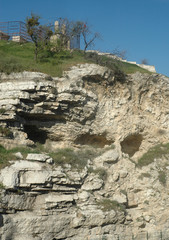 hillside near the garden tomb in Jerusalem, Israel called Golgotha or place of the skull
