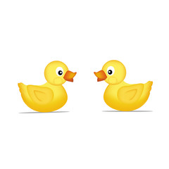 Two yellow duck Vector