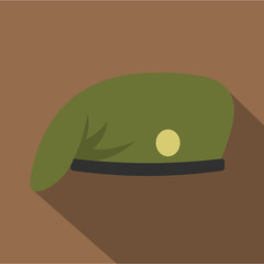 Military cap icon, flat style
