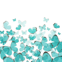 Vector Illustration of an Abstract Background with Butterflies